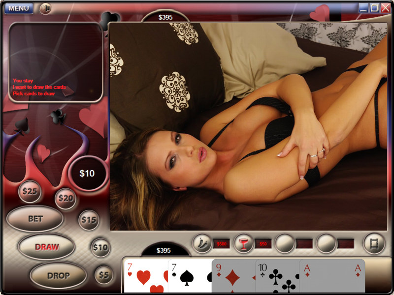 Strip poker game with real girls and video.
